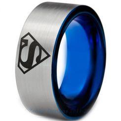*COI Tungsten Carbide Superman Pipe Cut Flat Ring-TG3226