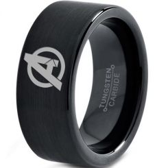COI Black Tungsten Carbide Marvel Avenger Ring-TG3329