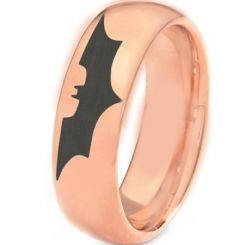 COI Rose Tungsten Carbide Batman Dome Court Ring-TG3382