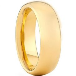 COI Gold Tone Tungsten Carbide Dome Court Ring-TG3444AA