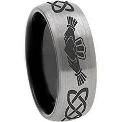 COI Tungsten Carbide Mo Anam Cara Celtic Ring-TG3571