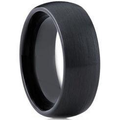 *COI Black Titanium Dome Court Ring-3903