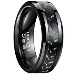 COI Black Tungsten Carbide Ring With Carbon Fiber-TG4015