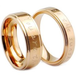 COI Rose Tungsten Carbide Ring With Custom Engraving-TG4028