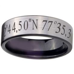 COI Tungsten Carbide Custom Co-ordinate Ring-TG4057