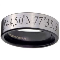 COI Tungsten Carbide Custom Co-ordinate Ring-TG4057