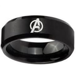 COI Black Tungsten Carbide Marvel Avengers Ring-TG4164