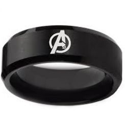 COI Black Tungsten Carbide Marvel Avengers Ring-TG4164