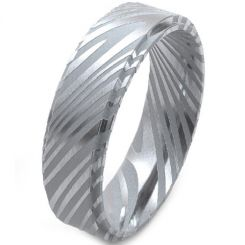 COI Tungsten Carbide Damascus Step Edges Ring-TG4187AA
