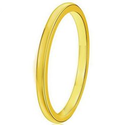 COI Gold Tone Tungsten Carbide 2mm Dome Court Ring - TG4497