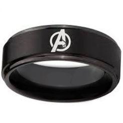 COI Black Tungsten Carbide Marvel Avengers Ring-TG4702