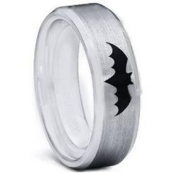 COI Tungsten Carbide Batman Beveled Edges Ring-TG5001