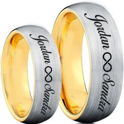 COI Tungsten Carbide Ring With Custom Name Engraving-TG5003