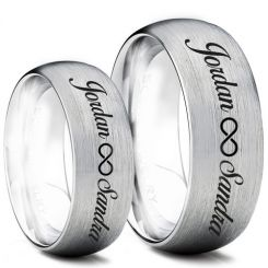 COI Tungsten Carbide Ring With Custom Engraving-TG5005