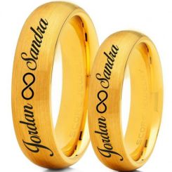 COI Tungsten Carbide Ring With Custom Engraving-TG5016