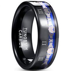 COI Tungsten Carbide Black Blue Mo Anam Cara Ring-TG5045
