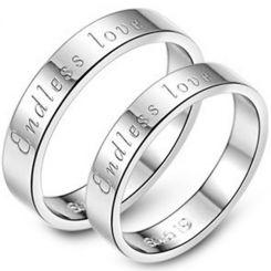 COI Tungsten Carbide Endless Love Pipe Cut Flat Ring-TG5153