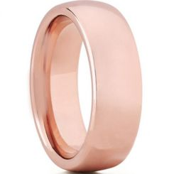 COI Rose Tungsten Carbide Dome Court Ring-TG5171