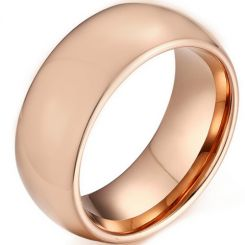 *COI Rose Tungsten Carbide Dome Court Ring-TG5171