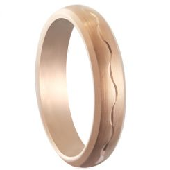 COI Rose Tungsten Carbide Celtic Dome Court Ring-TG5179