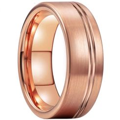 COI Rose Tungsten Carbide Offset Groove Pipe Cut Ring-TG5210