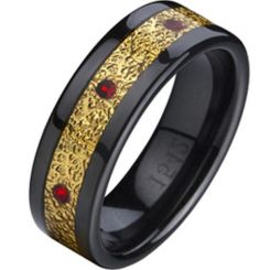 COI Ceramic Ring - TG874A(Size:US10.5)