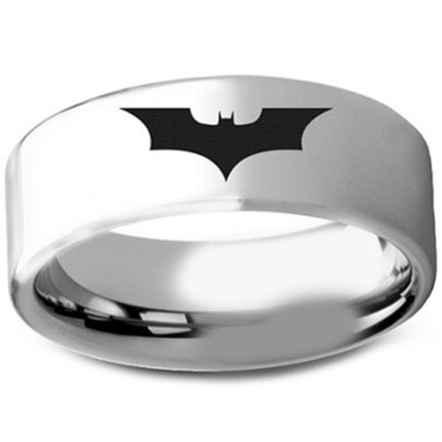 COI Titanium Batman Pipe Cut Flat Ring-3236
