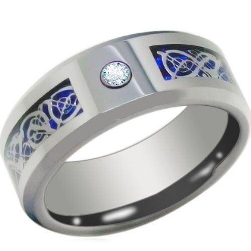COI Titanium Dragon Ring With Cubic Zirconia-3844