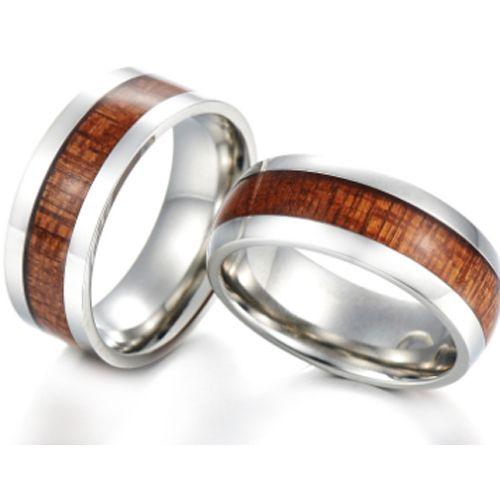 COI Tungsten Carbide Wood Pipe Cut Flat Ring-TG5769