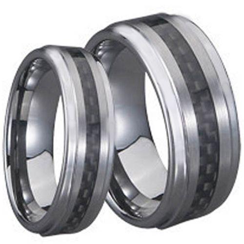 COI Tungsten Carbide Carbon Fiber Step Edges Ring-TG710