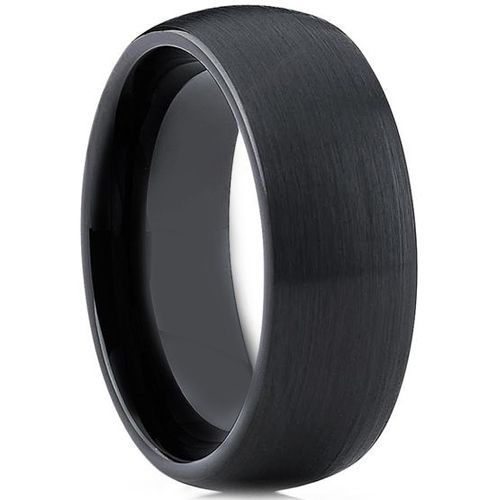 COI Black Ceramic Dome Court Ring-TG3784